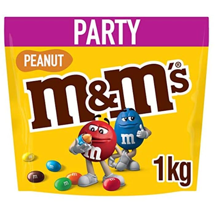 M&M's Peanut Chocolate Party Bulk Bag, 1kg