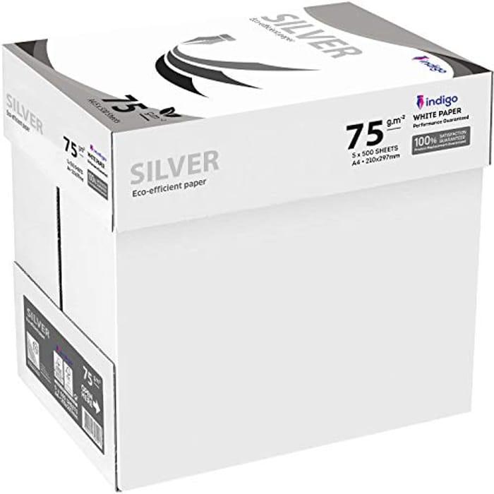 Indigo Box of A4 Paper Office White Printer Copier Paper 5 Reams