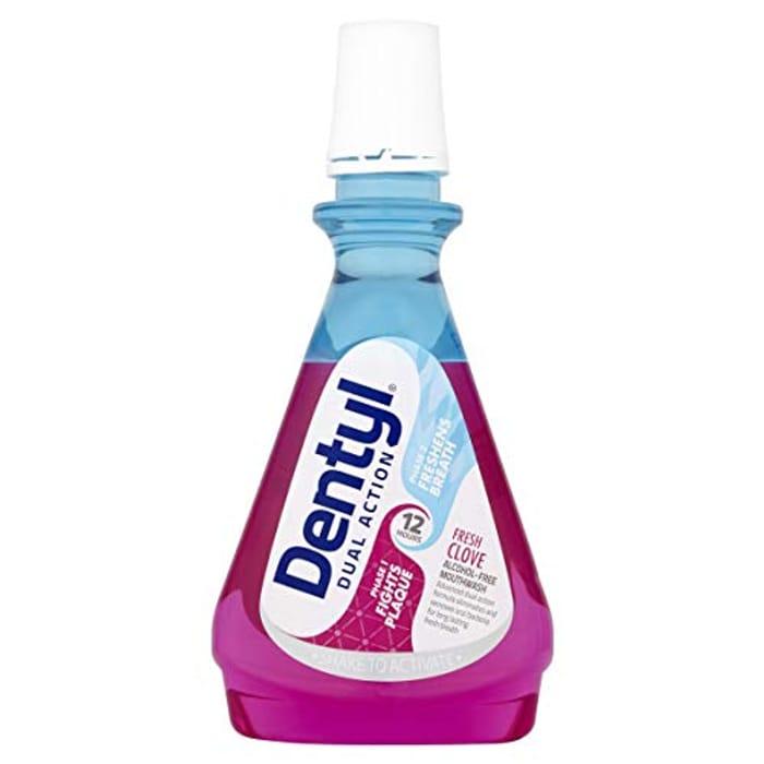 PRICE DROP: Dentyl Dual Action Fresh Clove CPC Mouthwash, 500 Ml