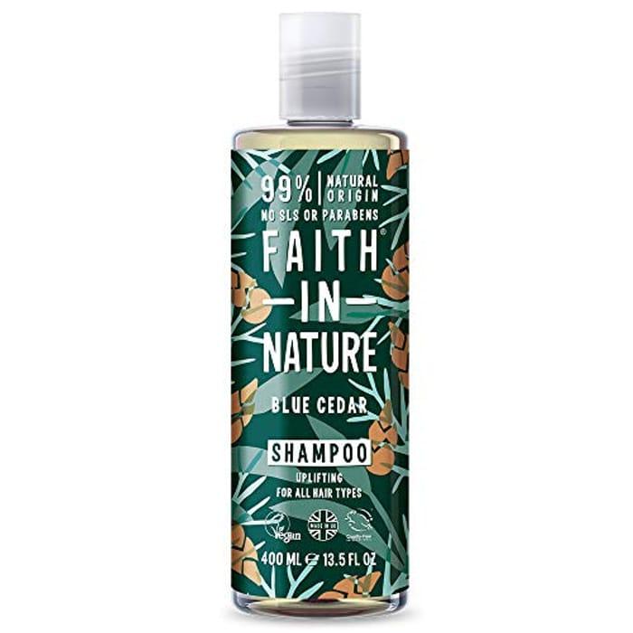 Faith in Nature Natural Blue Cedar Shampoo, 400ml