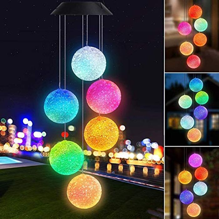 Joomer Solar Wind Chimes, Color Changing Outdoor Solar Lights