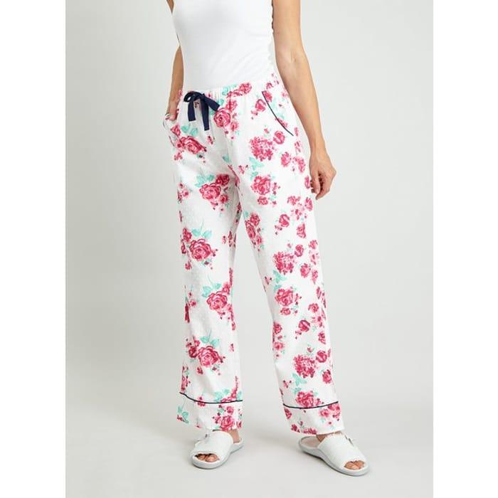 Floral Print Woven Pyjama Bottoms