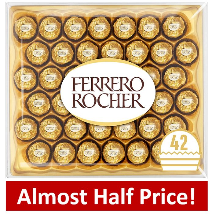 PRIME DAY DEAL: Ferrero Rocher Chocolate Gift Box, 42 Chocolates