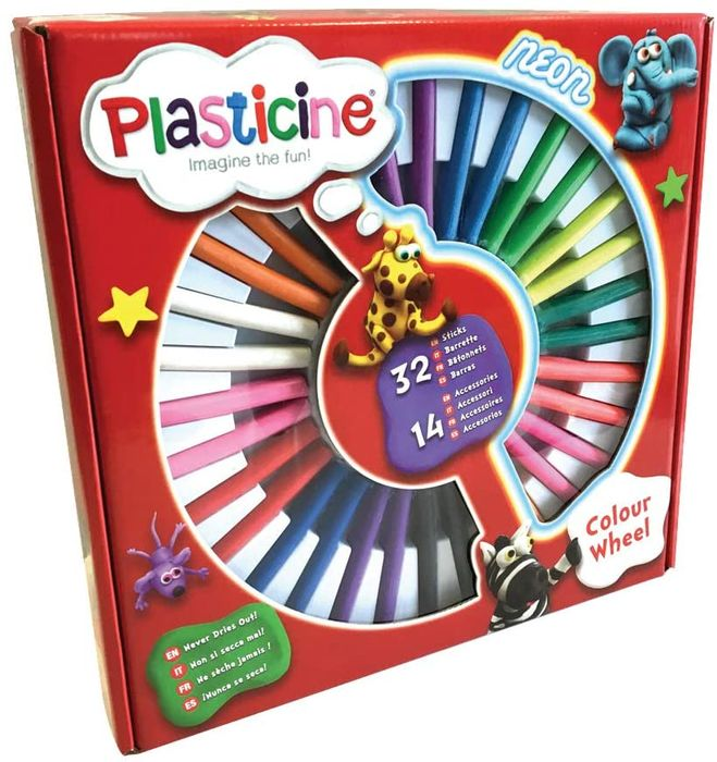 Plasticine PTL05000 Colour Wheel Modelling Clay for Kids Aged 3 and up