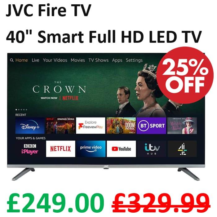 """PRIME DAY DEAL: JVC Fire TV 40"""" Smart Full HD LED TV"""