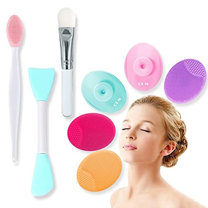 8Pcs Silicone Manual Facial Cleansing Brush Set