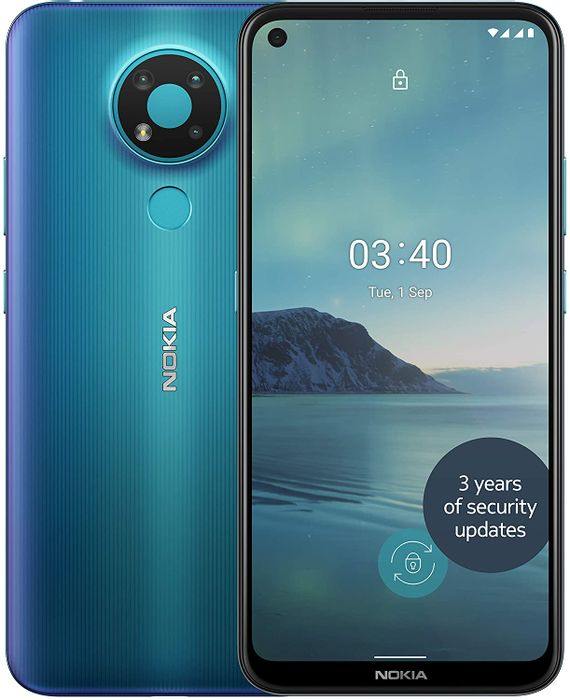 *SAVE £50* Nokia 3.4 6.39 Inch Android UK SIM-Free Smartphone, 3GB RAM and 32GB