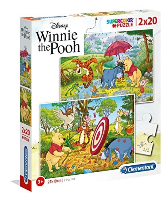 2 X 20 Pieces Clementoni Winnie the Pooh Puzzles