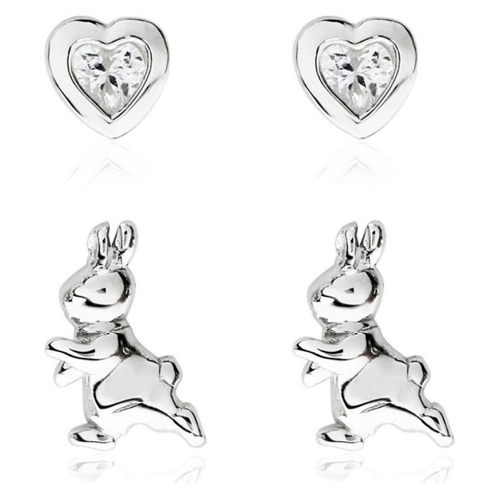 Beatrix Potter Peter Rabbit Sterling Silver Studs