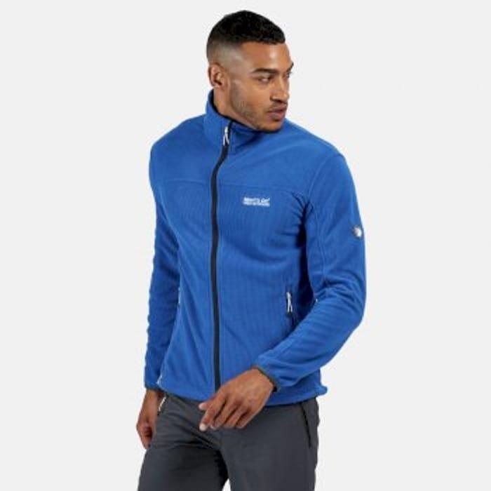 Regatta Men's Stanner Full Zip Lightweight Grid Fleece Nautical Blue