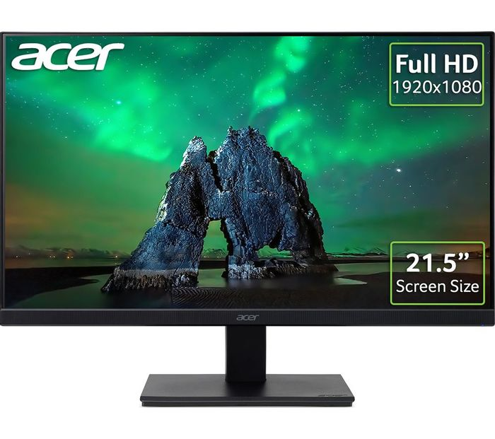 """*SAVE £40* ACER Full HD 21.5"""" IPS LCD Monitor - Black"""