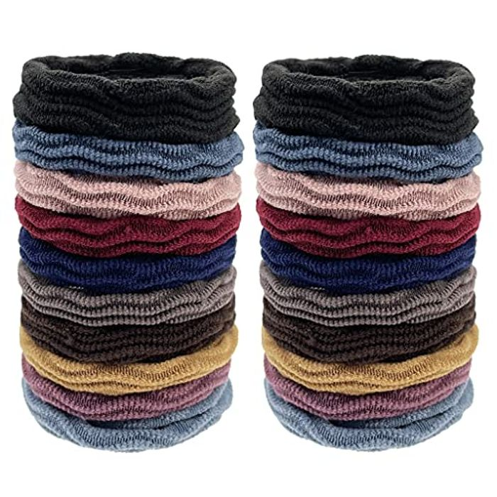 Sukmax Seamless Thick Elastic Hair Bands, 20 Pieces Multicolor - Only £1.99!