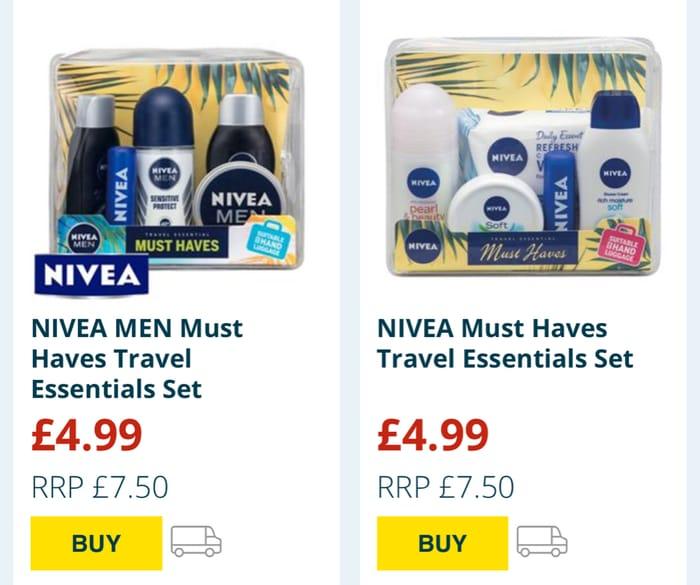 NIVEA MEN Must Haves Travel Essentials Set/NIVEA Must HavesTravel Essentials Set