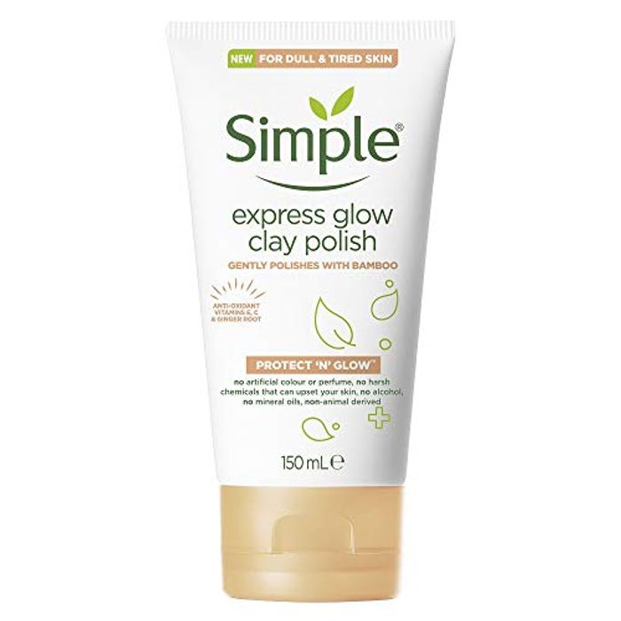 Simple Protect 'N' Glow Express Glow Exfoliating Cleanser Clay Polish 150ml