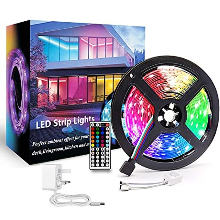 RJEDL 5m LED Strip Lights with 8 Modes + Remote