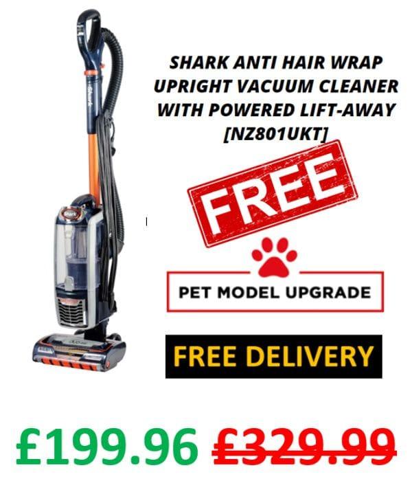 CHEAP! Shark Anti Hair Wrap Vacuum Cleaner   Powered Lift-Away   + FREE UPGRADE