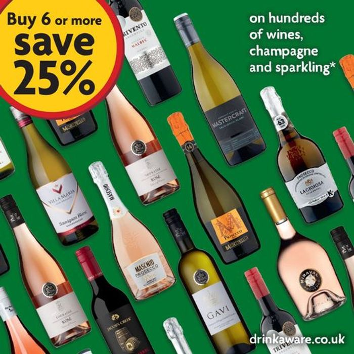 Morrisons - Buy 6 Bottles Of Wine, Fizz Or Champagne & Save 25%