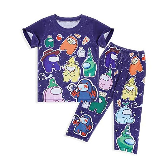 Kids Pjs Cartoon Print Pyjamas for Boys Girls - Only £7.49!