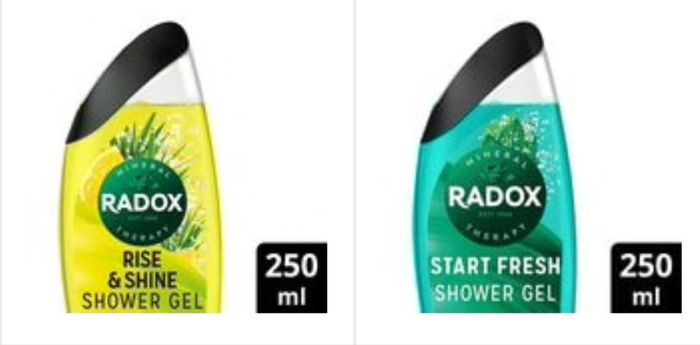 Only 89p on Radox Men Start Fresh Rise shine 2in1 Shower Gels 250ml