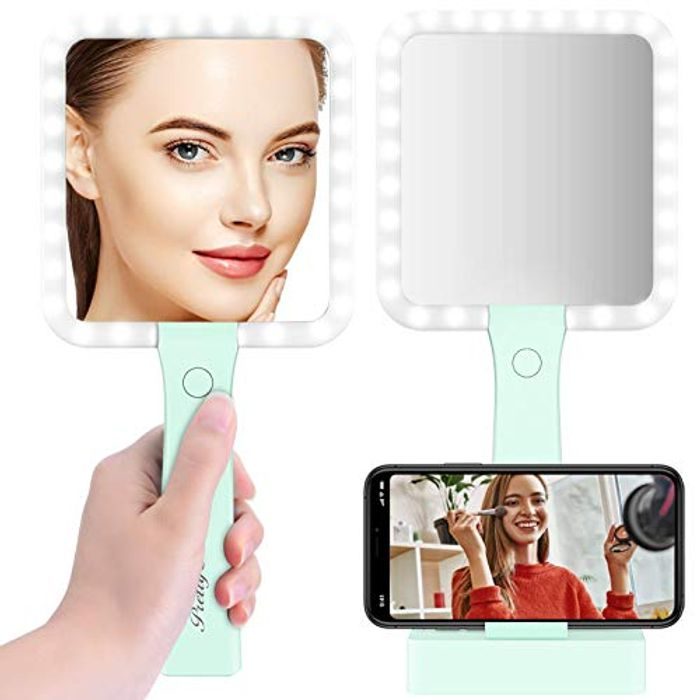 PRETTY SEE Lighted Makeup Mirror USB Charging Table Mirro