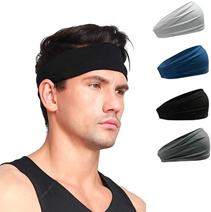EDWARD & CO. Fitness Hair Headbands for Men 4 PCS Pack with £4 off Coupon