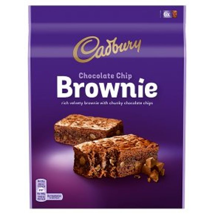 Cadbury Chocolate Chip Brownie6x25g