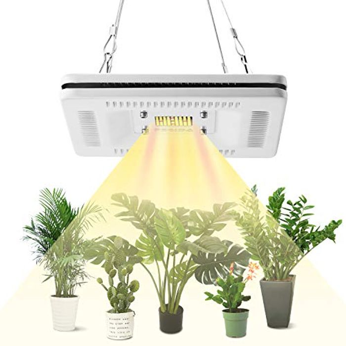 DEAL STACK - FECiDA Waterproof 50W LED Grow Light for Indoor Plants + 40% Coupon