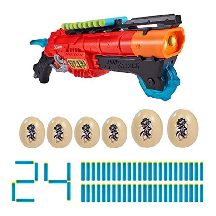 ZURU X-SHOT Dino Attack Claw Hunter Foam Blaster, 24 Darts, 6 Eggs - Only £5.94!