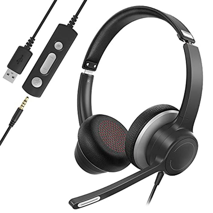 Soulsens USB Headset with Microphone Noise Cancelling with £10 off Coupon