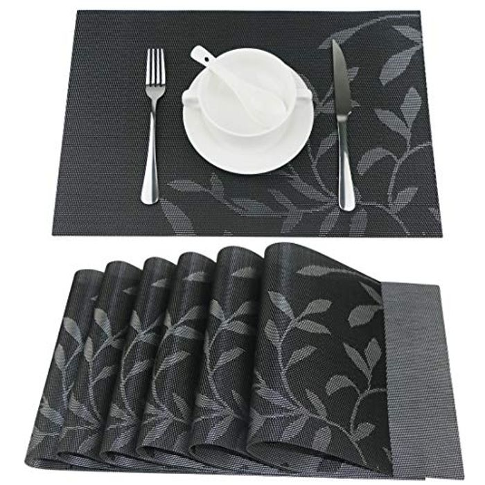 DEAL STACK - Fanuk Washable Heat Insulation Non-Slip Placemats Set + 20% Coupon
