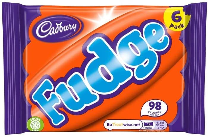 Cadbury Fudge Bar, Multipack of 6 Bars 132 G