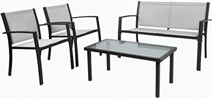 Garden Furniture Set, Indoor Outdoor 4 Piece Set - Only £159.99!