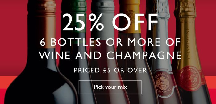 For One Week Only: 25% off Wine and Champagne