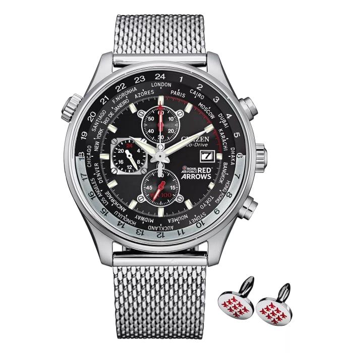 *SAVE £120* Citizen Red Arrows Chronograph Watch & Cufflinks Gift Set