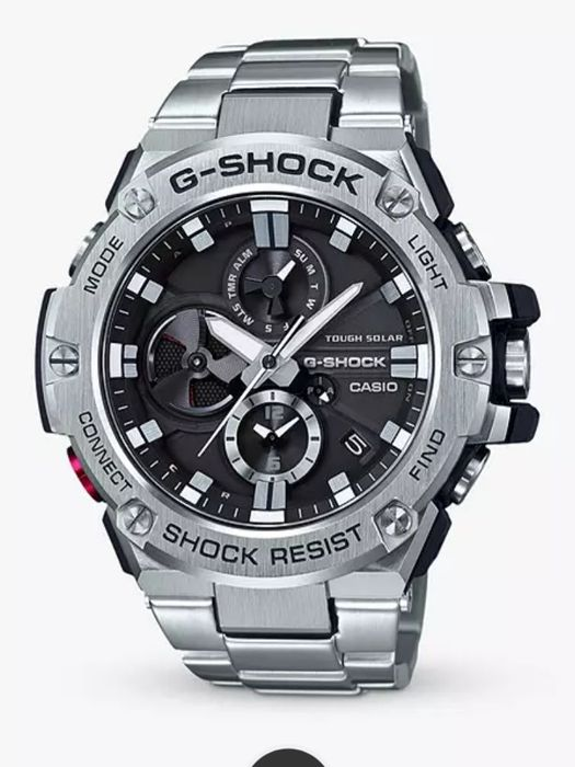 Casio GST-B100D-1AER Men's G-Shock Metal Chronograph Bracelet Strap Watch
