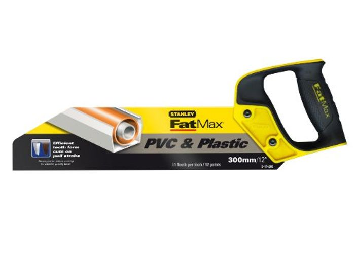 Stanley 217206 300mm/ 12-Inch FatMax PVC and Plastic Saw - Only £8.56!
