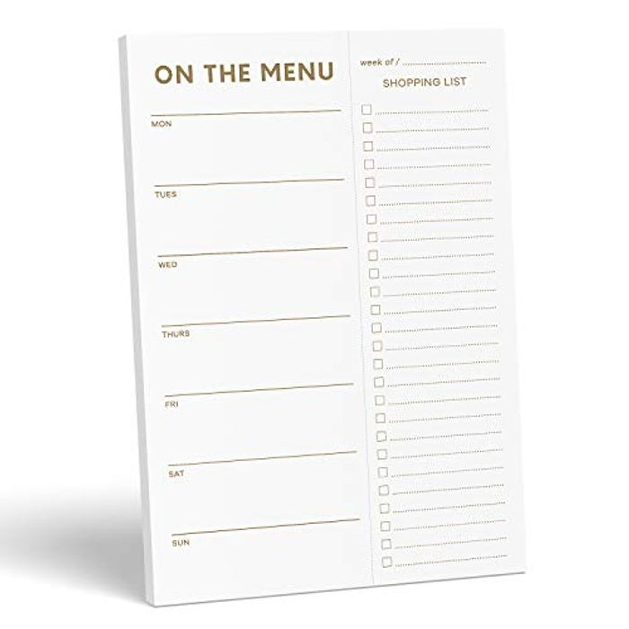 DEAL STACK - Sweetzer & Orange Gold Print Meal Planner Pads + £1 Coupon