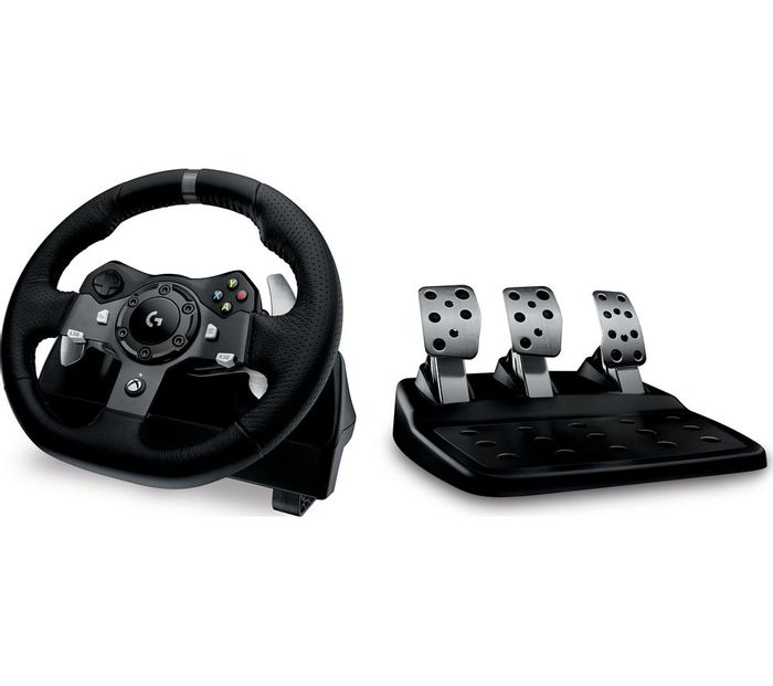 LOGITECH Driving Force Xbox & PC Racing Wheel & Pedals - Only £188.99!