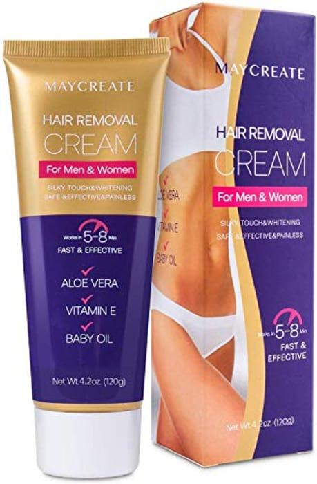 LIGHTNING DEAL - Maycreate Skin-Friendly Hair Removal Painless Depilatory Cream