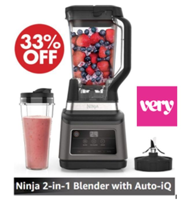 SAVE £50.99 - NINJA 2-in-1 Blender with Auto-iQ BN750UK