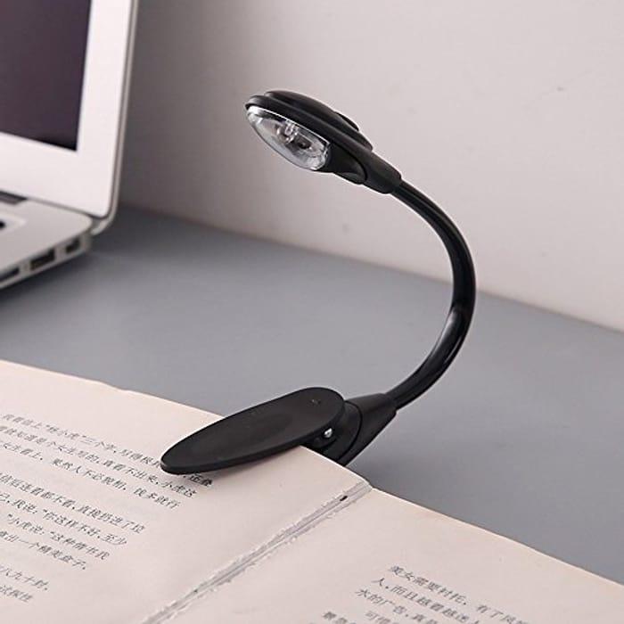 Portable Travel Book Reading Light Lamp Mini LED Clip - 70% Voucher