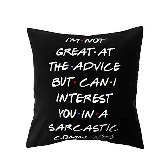 Black Sofa Polyester Home Decor Friends TV Show Cushion
