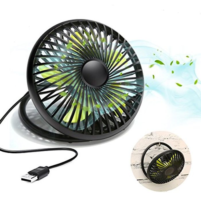 MECO ELEVERDE USB 6'' Portable Personal Table Desk Cooling Fan - Only £3.99!