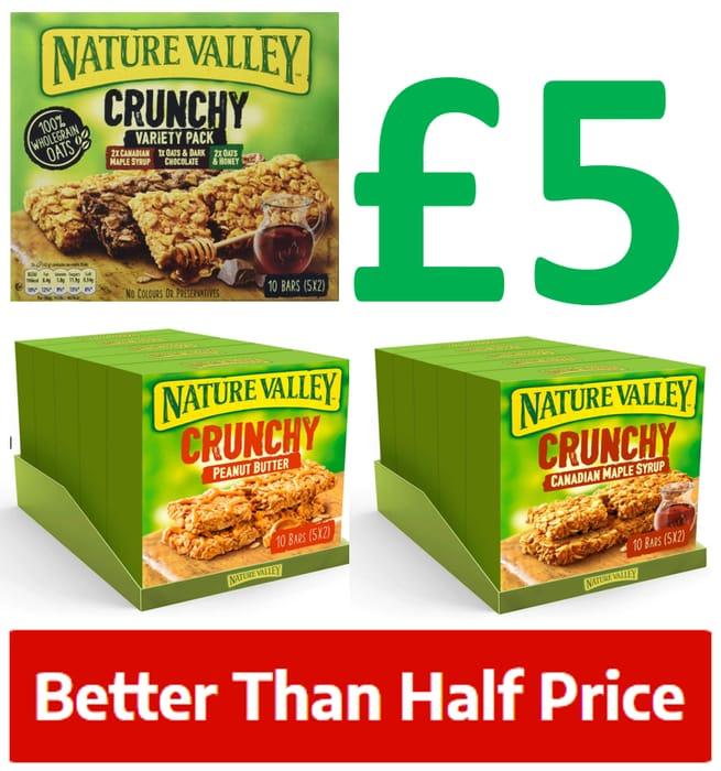 25 Nature Valley Crunchy Bars   20p a Bar!   3 Varieties