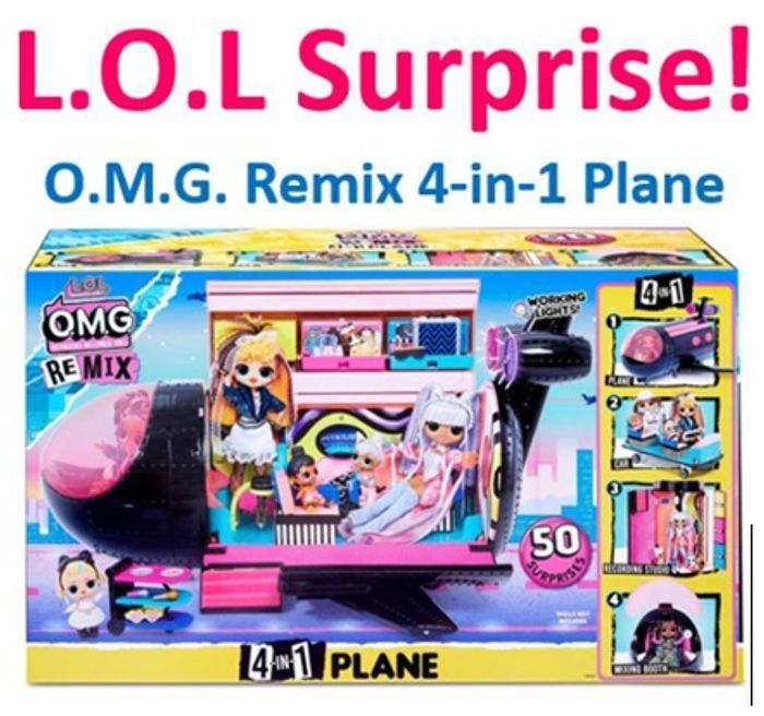 SAVE £53! LOL Surprise OMG Remix 4-in-1 Plane with 50 Surprises
