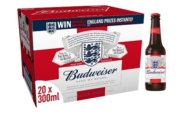 Budweiser Lager Beer Bottle, 20 X 300ml - Only £10!