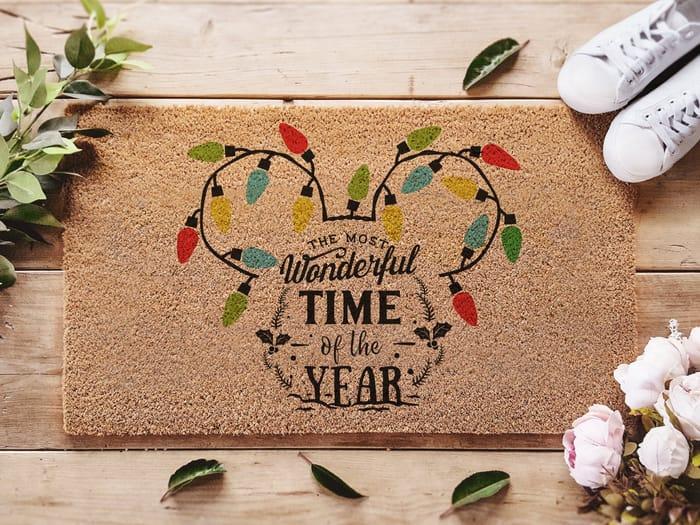 Disney Christmas Doormat