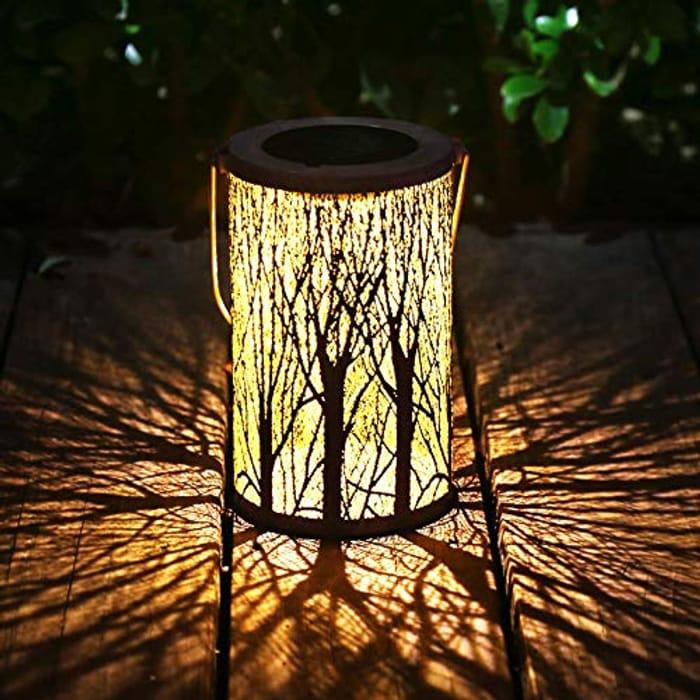 DEAL STACK - Garden Lanterns Outdoor Lights Hanging Solar Lanterns + £2 Coupon