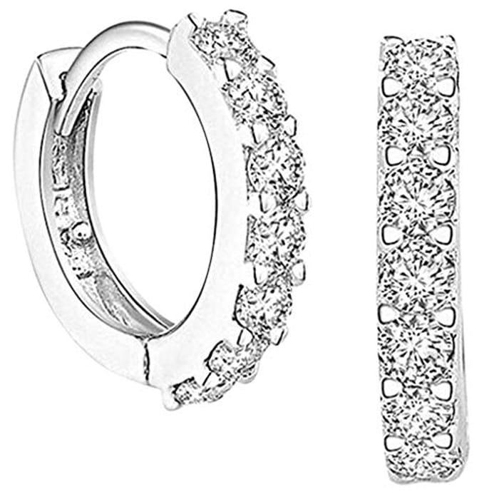 WATERSPA 1 Pair Classical Silver Women Stud Earrings - Only £2.89!