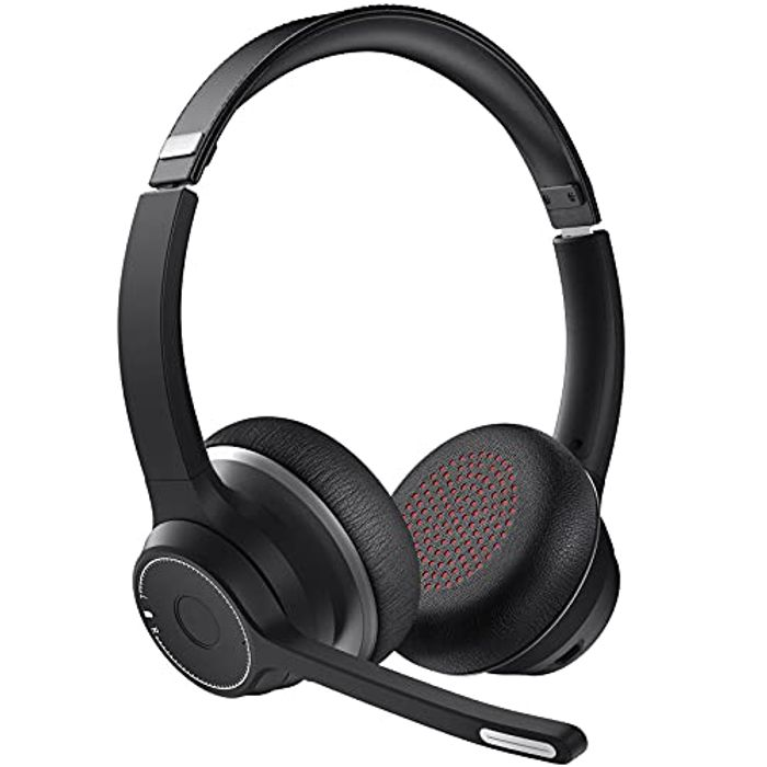 Wireless Headset with Dual Noise Canceling Mic Microphone with £15 off Coupon